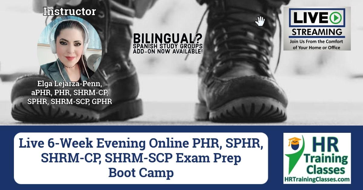 6-Week PHR, SPHR, SHRM-CP, SHRM-SCP Exam Prep Bootcamp